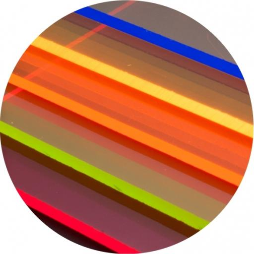 FLUORESCENT ACRYLIC SHEETS - 600X300MM